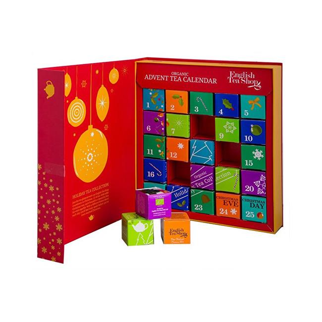 Zobrazit detail výrobku English Tea Shop Adventní kalednář kniha červená BIO 25 pyramidek, 13 příchutí