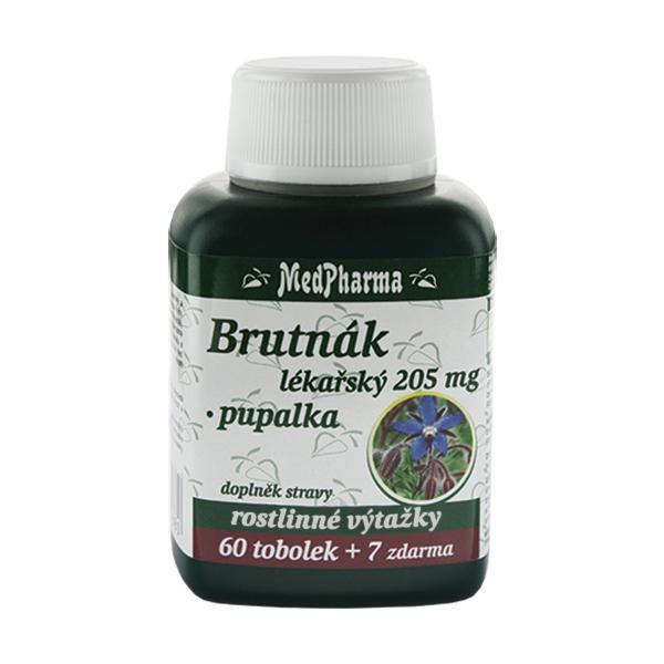 Brutnák lékářský 205 mg + pupalka 60 tob. + 7 tob. ZDARMA