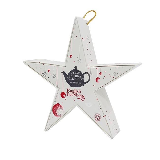 Zobrazit detail výrobku English Tea Shop Červená a stříbrná hvězda BIO 6 pyramidek