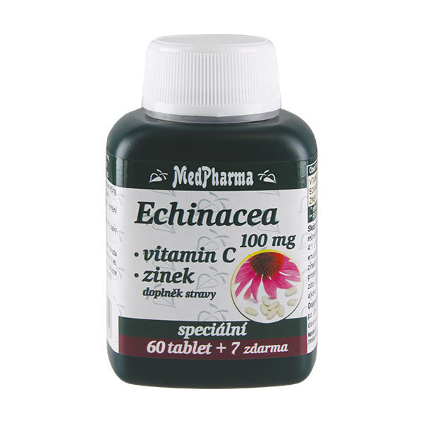 Zobrazit detail výrobku MedPharma Echinacea 100 mg + vit.C + zinek 67 tablet