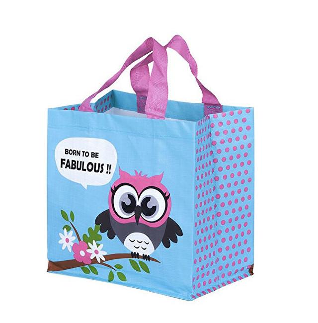 Zobrazit detail výrobku KPPS ECO taška Sova 3 barevné motivy blankyt