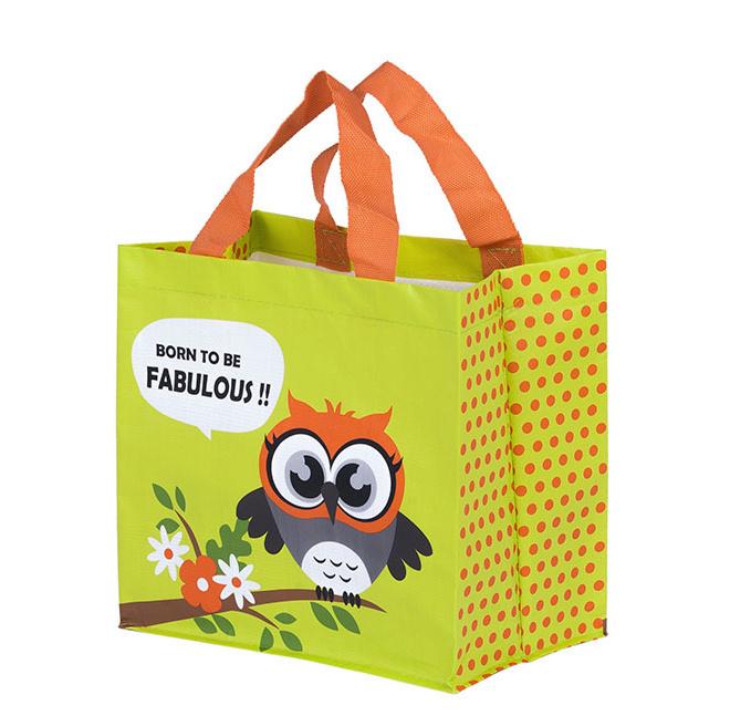 Zobrazit detail výrobku KPPS ECO taška Sova 3 barevné motivy žlutá