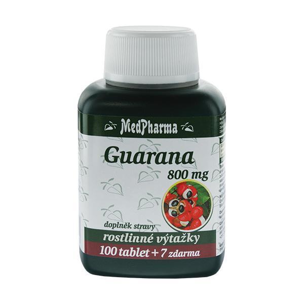 Zobrazit detail výrobku MedPharma Guarana 800 mg 100 tbl. + 7 tbl. ZDARMA
