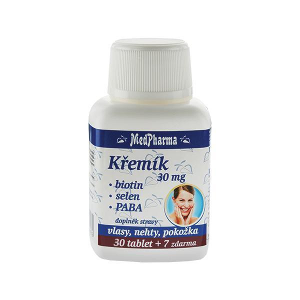 Zobrazit detail výrobku MedPharma Křemík 30 mg + biotin + selen + PABA 30 tob. + 7 tob. ZDARMA