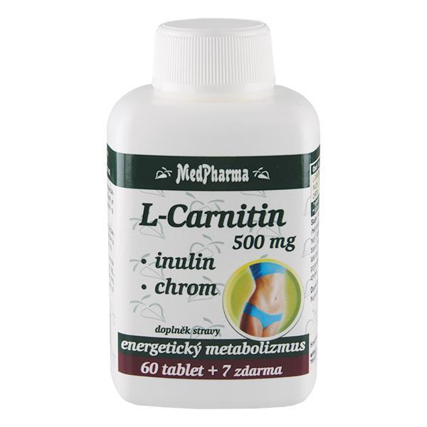 Zobrazit detail výrobku MedPharma L-Carnitin 500 mg+Inulin+Chrom 67 tablet