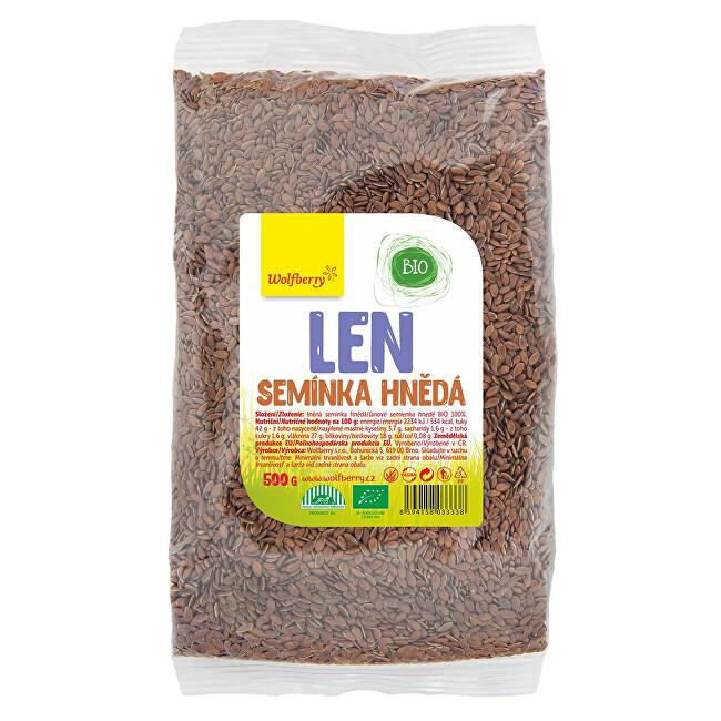 Zobrazit detail výrobku Wolfberry Lněné semínko hnědé BIO 500 g