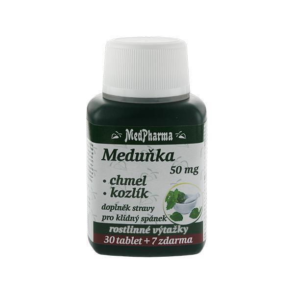 Zobrazit detail výrobku MedPharma Meduňka 50 mg + chmel + kozlík 30 tbl. + 7 tbl. ZDARMA
