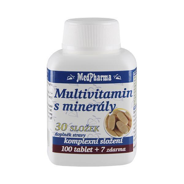 Multivitamin s minerály 30 složek 100 tbl. + 7 tbl. ZDARMA