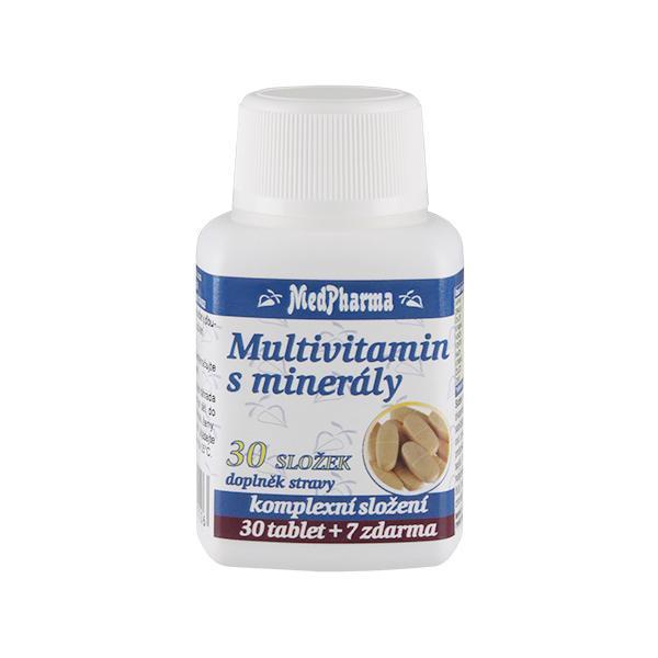 Zobrazit detail výrobku MedPharma Multivitamin s minerály 30 složek 30 tbl. + 7 tbl. ZDARMA
