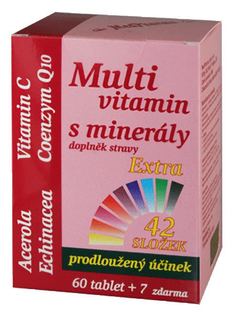 Zobrazit detail výrobku MedPharma Multivitamin s minerály 42 složek, extra C + Q10 60 tbl. + 7 tbl. ZDARMA