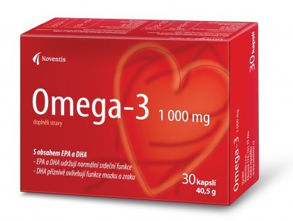 Zobrazit detail výrobku Noventis Omega–3 1000 mg 30 kapslí