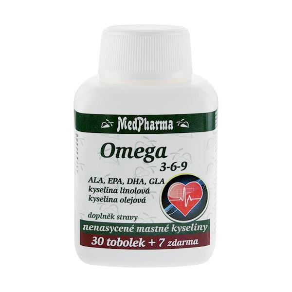 Zobrazit detail výrobku MedPharma Omega 3-6-9 37 kapslí