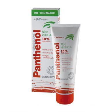 Panthenol 10 % Sensitive tělové mléko s aloe vera 230 ml