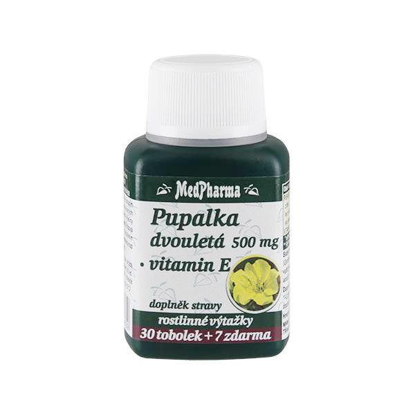 Pupalka dvouletá 500 mg + vitamín E 30 tob. + 7 tob. ZDARMA