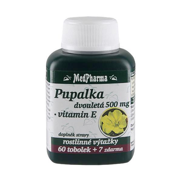 Zobrazit detail výrobku MedPharma Pupalka dvouletá 500 mg + vitamín E 60 tob. + 7 tob. ZDARMA