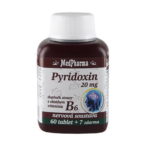 Zobrazit detail výrobku MedPharma Pyridoxin (vitamin B6) 20 mg 67 tablet