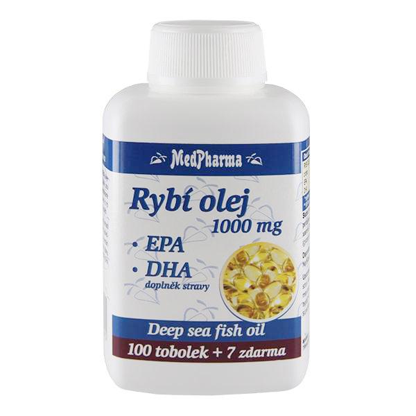 Zobrazit detail výrobku MedPharma Rybí olej 1000 mg + EPA + DHA 107 kapslí