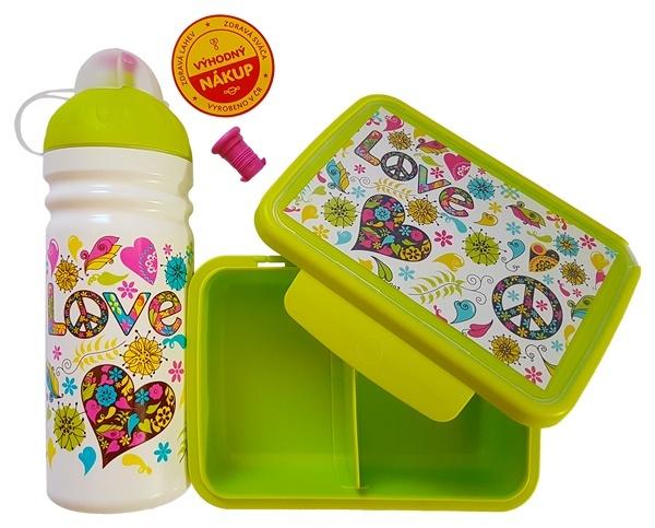 Zobrazit detail výrobku Zdravá láhev Zdravá sváča set Hippies