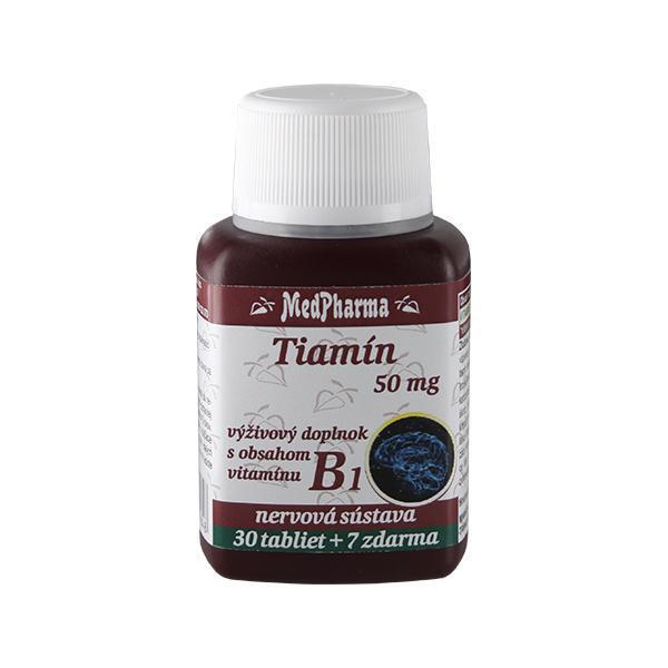 Thiamin 50 mg – doplněk stravy s obsahem vitamínu B1 30 tbl. + 7 tbl. ZDARMA