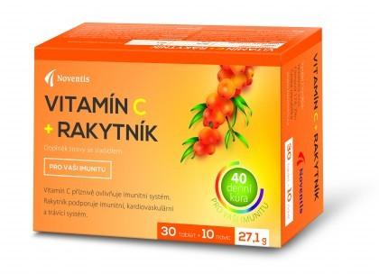 Zobrazit detail výrobku Noventis Vitamín C + Rakytník 40 tablet