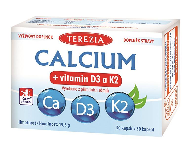 Zobrazit detail výrobku Terezia Company Calcium + vitamin D3 a K2 30 kapslí