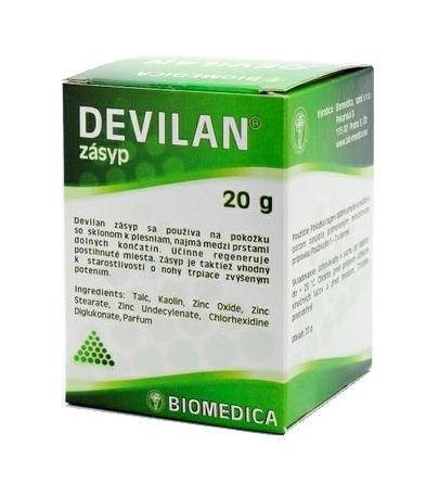 Zobrazit detail výrobku Biomedica Devilan zásyp 20 g