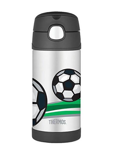 Zobrazit detail výrobku Thermos FUNtainer Dětská termoska s brčkem - fotbal 355 ml