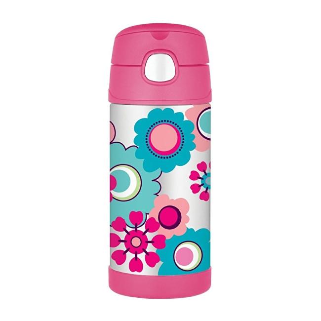 Zobrazit detail výrobku Thermos FUNtainer Dětská termoska s brčkem - květy 355 ml
