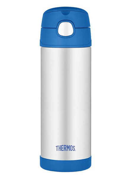 Zobrazit detail výrobku Thermos FUNtainer Dětská termoska s brčkem - modrá 470 ml