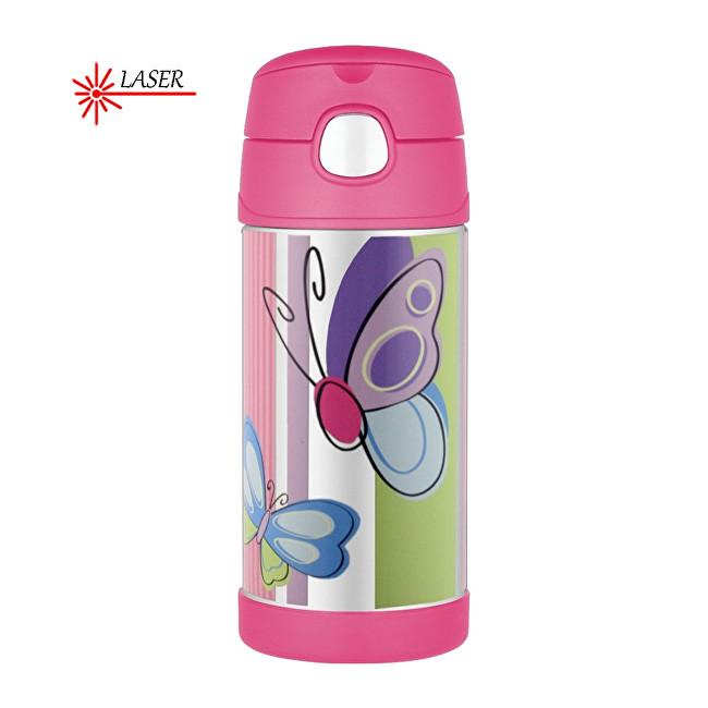 Zobrazit detail výrobku Thermos FUNtainer Dětská termoska s brčkem - motýl 355 ml