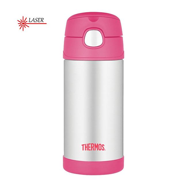 Zobrazit detail výrobku Thermos FUNtainer Dětská termoska s brčkem - stříbrná/růžová 355 ml