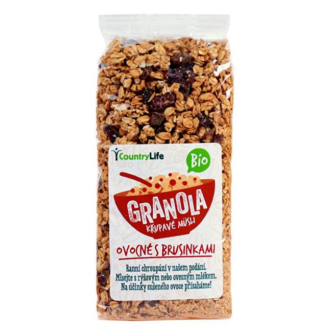Zobrazit detail výrobku Country Life Granola - Křupavé müsli ovocné s klikvou BIO 350g