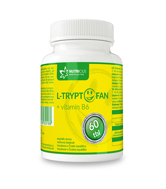 Zobrazit detail výrobku Nutricius L-Tryptofan + vitamín B6 60 tbl.
