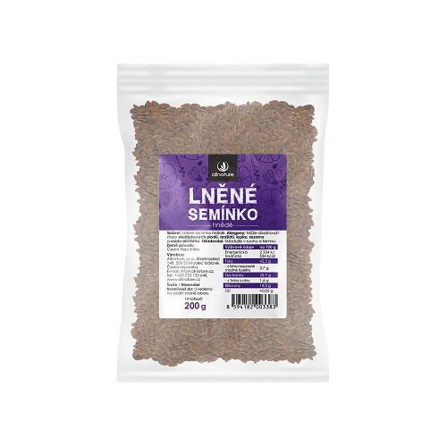 Zobrazit detail výrobku Allnature Lněné semínko hnědé 200 g - SLEVA - poškozená etiketa