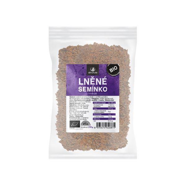 Zobrazit detail výrobku Allnature Lněné semínko hnědé BIO 200 g