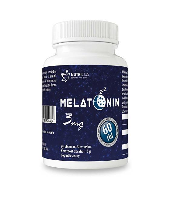 Zobrazit detail výrobku Nutricius Melatonin 3 mg 60 tbl.