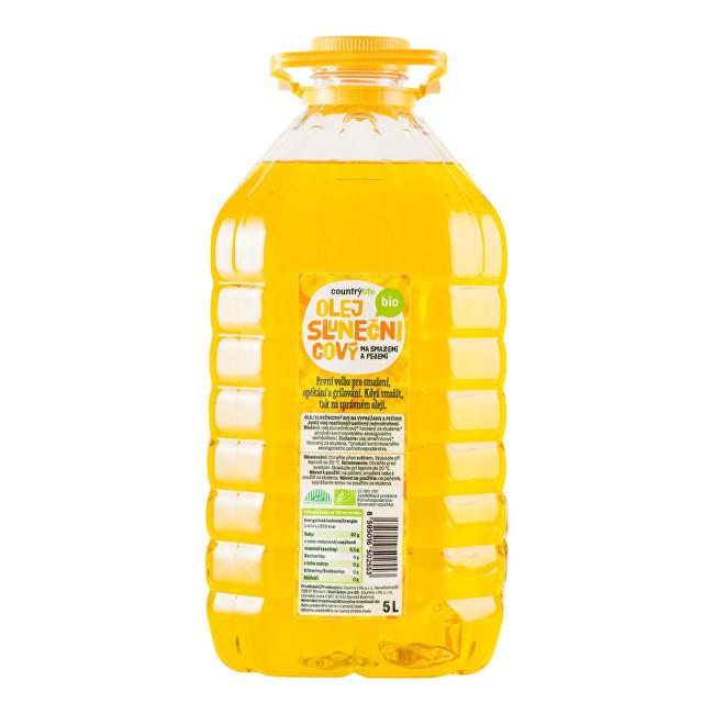 Country Life Olej slnečnicový na vyprážanie a pečenie BIO 5 litrů