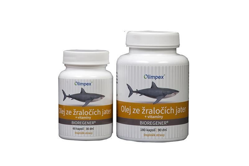 Zobrazit detail výrobku Olimpex s. r. o. Olej ze žraločích jater 180 kapslí + Olej ze žraločích jater 60 kapslí
