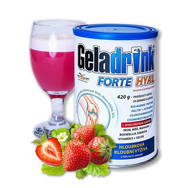 Geladrink Geladrink Forte HYAL 420 g Jahoda