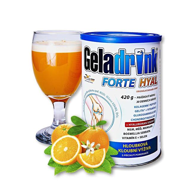 Geladrink Geladrink Forte HYAL 420 g Pomeranč