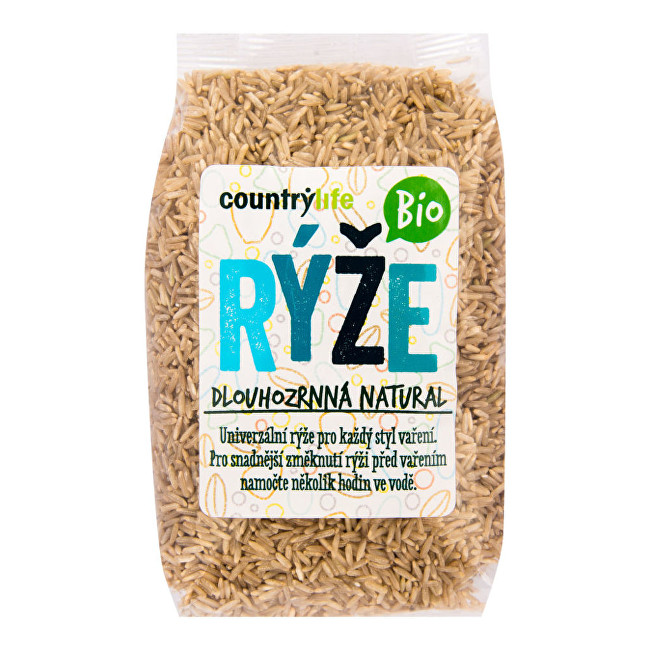 Zobrazit detail výrobku Country Life Rýže dlouhozrnná natural BIO 0,5 kg