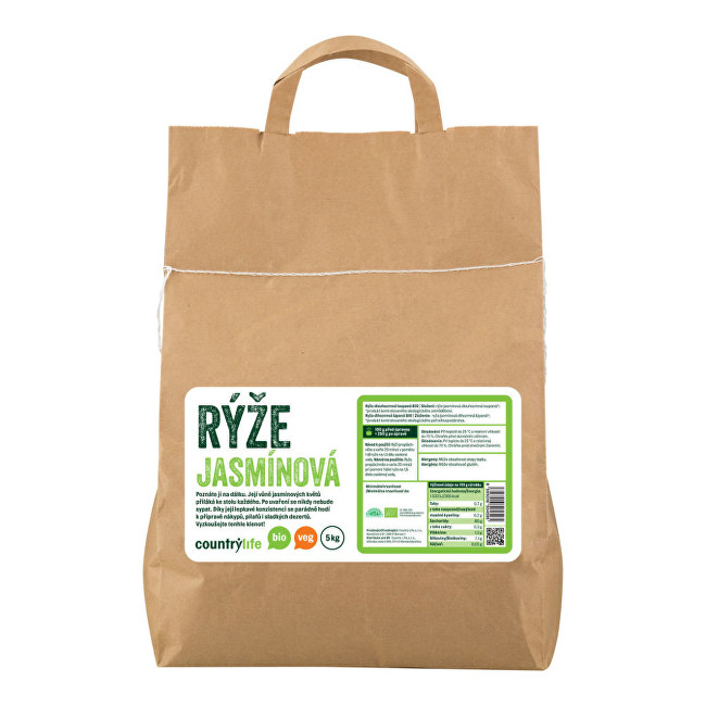 Zobrazit detail výrobku Country Life Rýže jasmínová BIO 5 kg