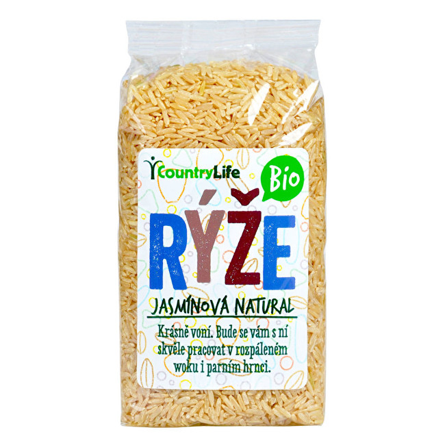 Zobrazit detail výrobku Country Life Rýže jasmínová natural BIO 0,5 kg