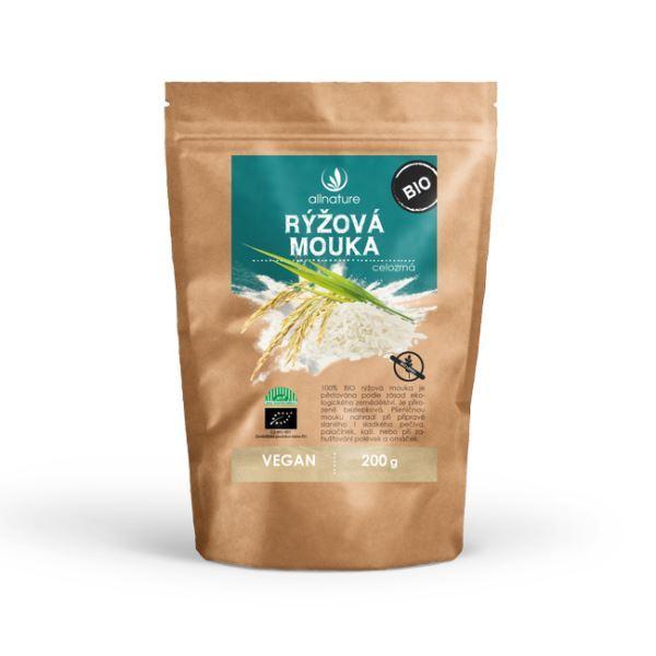 Allnature bio Rýžová mouka celozrnná 200 g