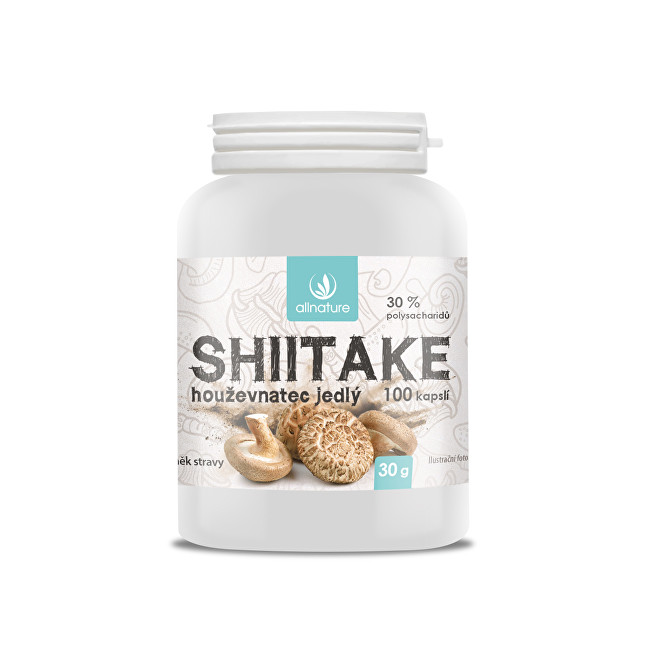 Zobrazit detail výrobku Allnature Shiitake 100 kapslí