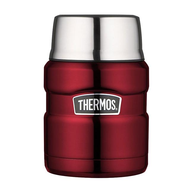 Zobrazit detail výrobku Thermos Style Termoska na jídlo se skládácí lžící a šálkem - červená 470 ml