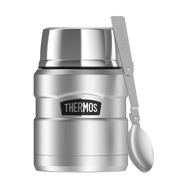 Zobrazit detail výrobku Thermos Style Termoska na jídlo se skládací lžící a šálkem - nerez 470 ml