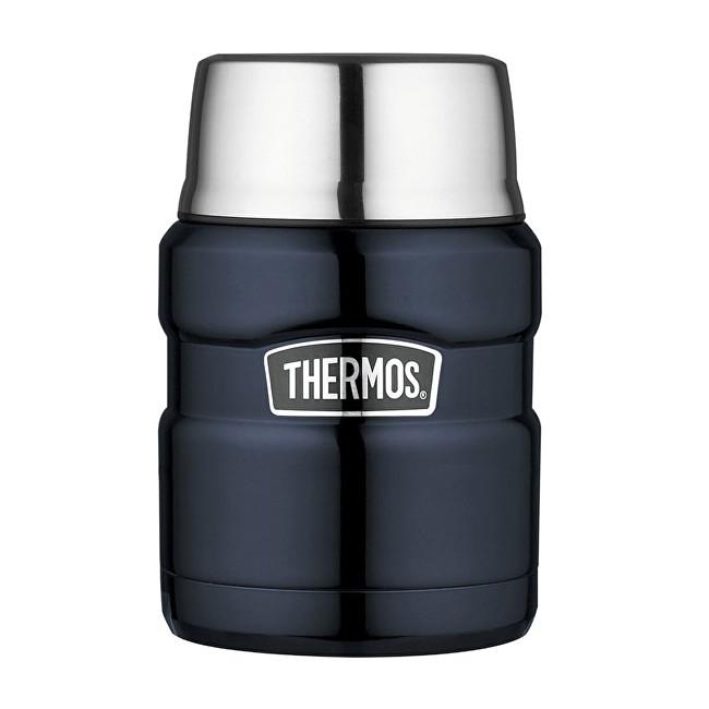 Zobrazit detail výrobku Thermos Style Termoska na jídlo se skládácí lžící a šálkem - tmavě modrá 470 ml