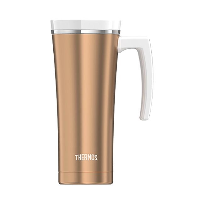 Zobrazit detail výrobku Thermos Style Vodotěsný termohrnek s madlem - růžovozlatá 470 ml
