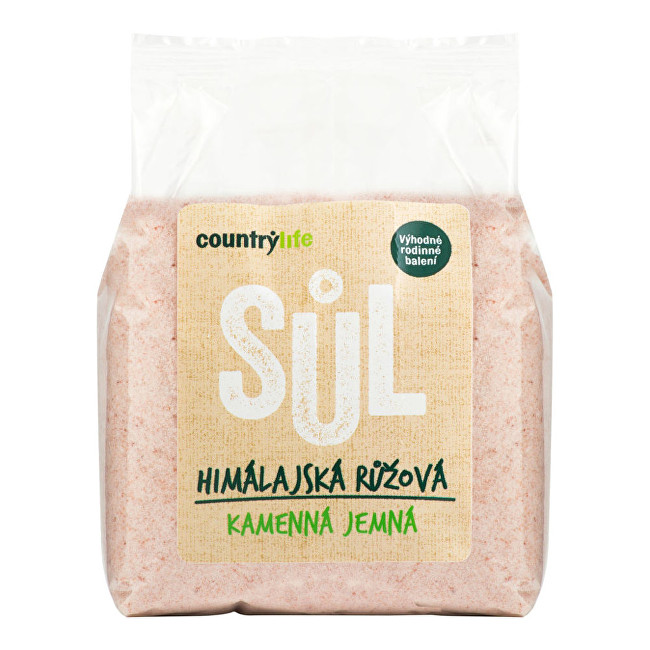 Zobrazit detail výrobku Country Life Sůl himálajská růžová jemná 1kg